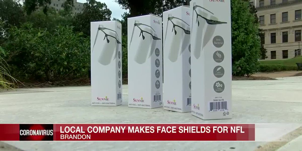 Local company making face shields for NFL