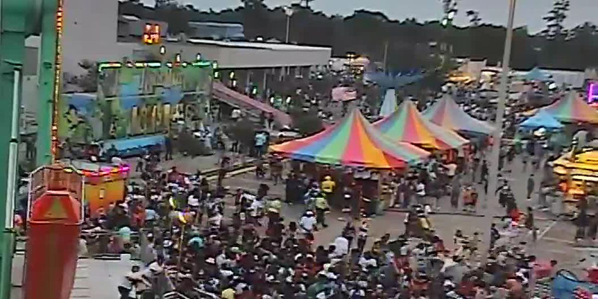 WATCH: Surveillance video captures hectic stampede following reports of gunshots at Crawfish Fest