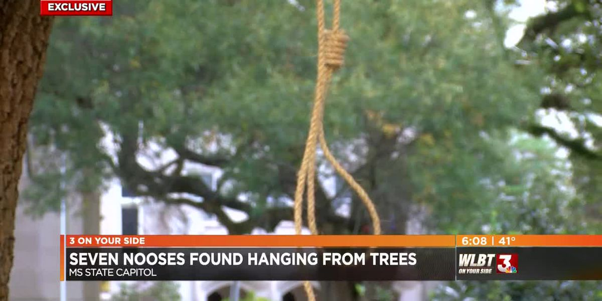 VIDEO: Seven nooses, signs found at Mississippi State Capitol