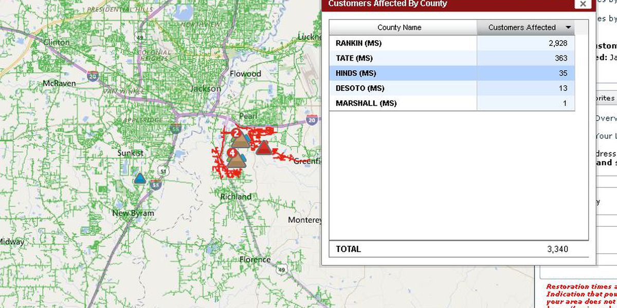 Power restored after major Rankin County power outage