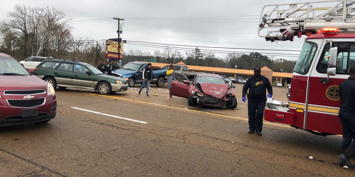 Paramedics on the scene of 4-car pileup on Highway 80
