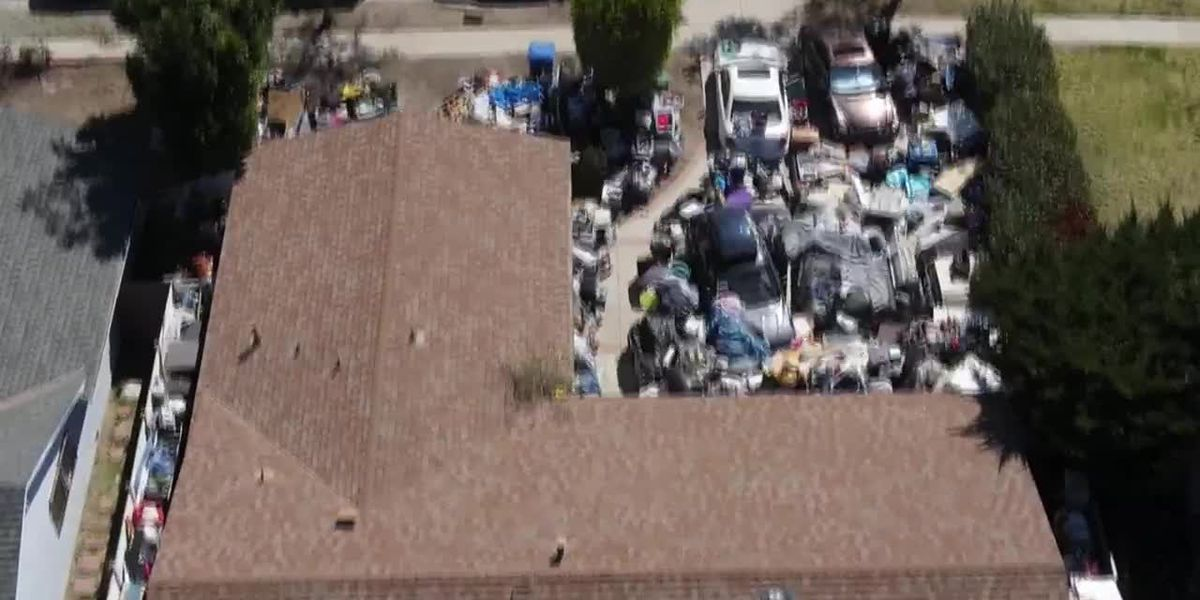 Home surrounded by rubbish under investigation in Los Angeles