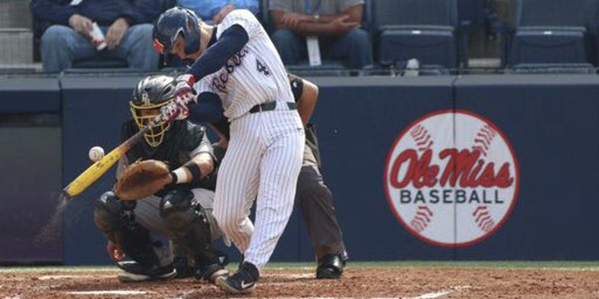 Ole Miss tosses no-hitter, wins 25-0