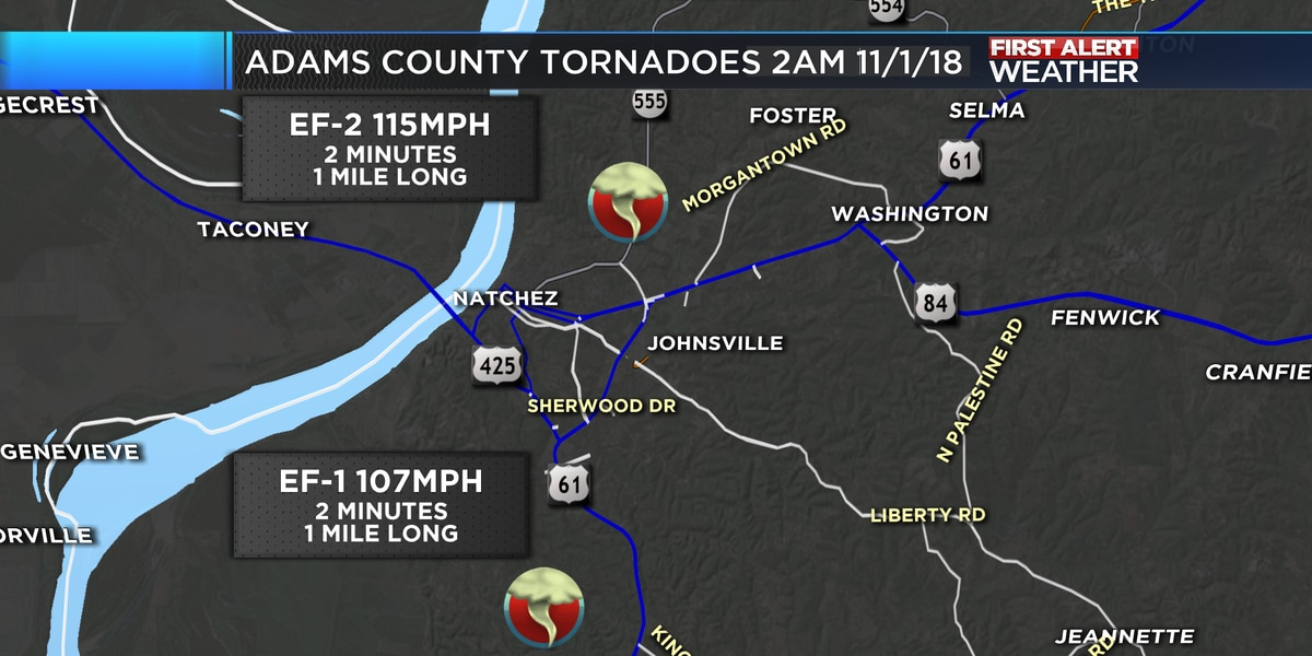 nws confirms at least nine tornadoes touched down in thursday