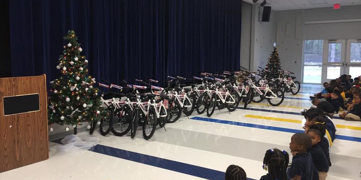 Academy Sports donates bikes to Canton elementary students