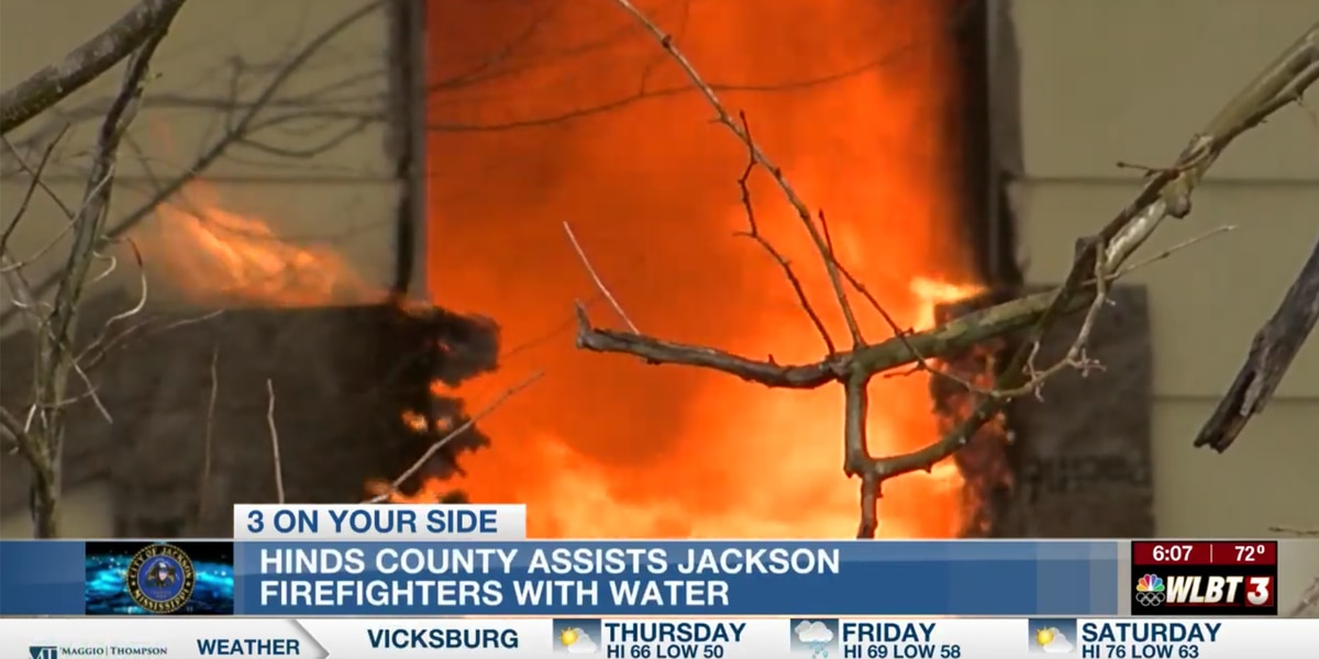 Volunteer fire departments band together to provide tankers to Jackson firefighters during water crisis