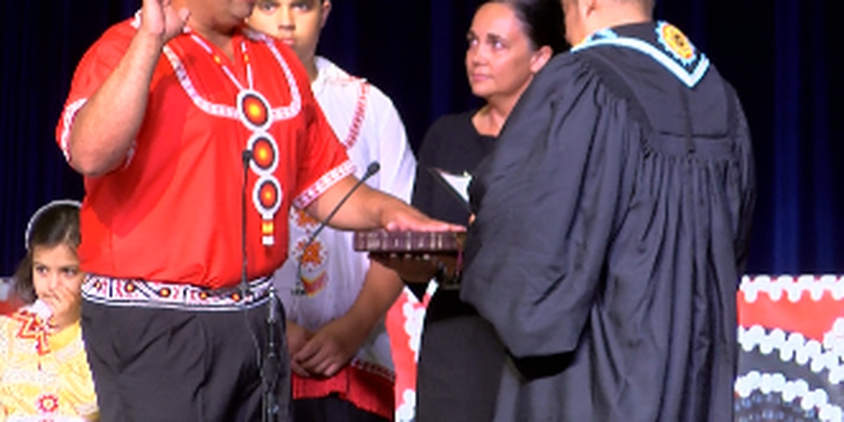Cyrus Ben takes oath to become youngest Choctaw Tribal Chief in history