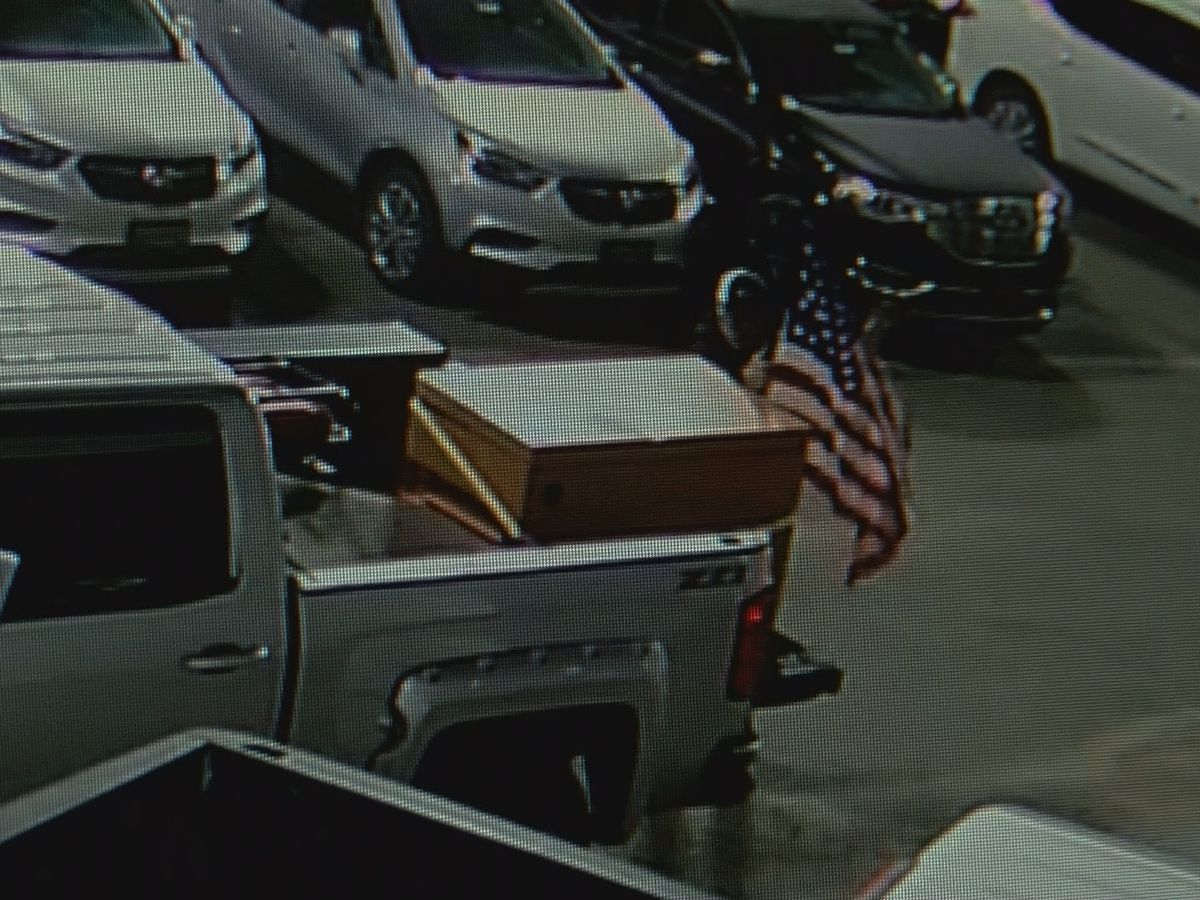WATCH: Patriotic burglar breaks into trucks before falling asleep inside parked car at dealership