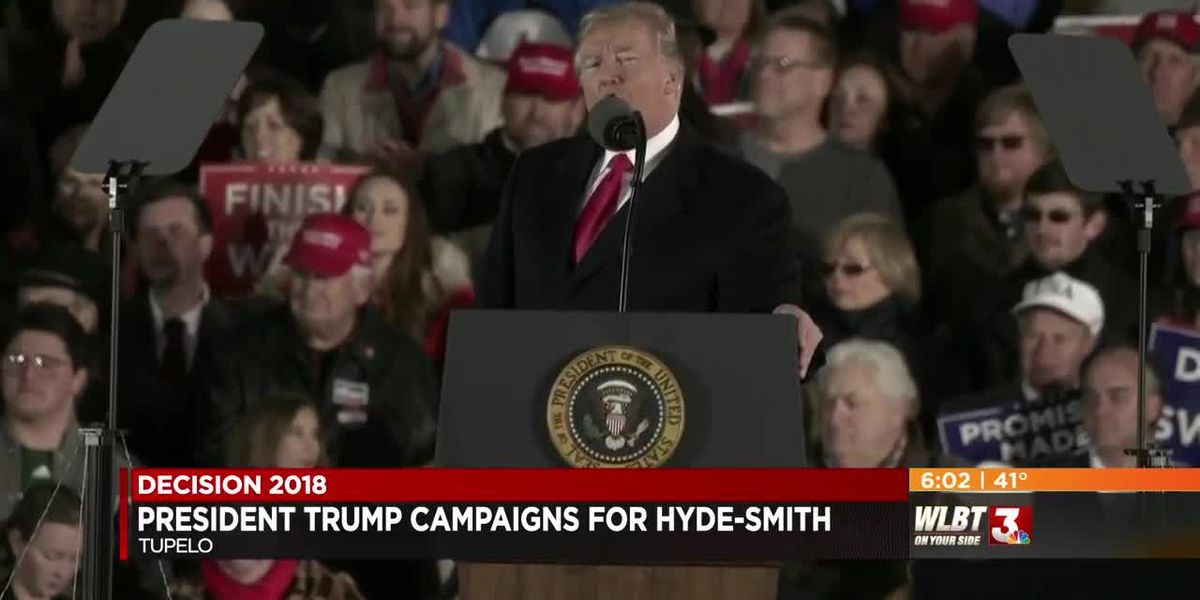 President Trump rallies support for Cindy Hyde-Smith ahead of U.S. Senate runoff - Tupelo