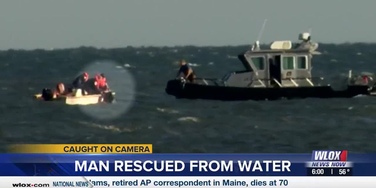 CAUGHT ON CAMERA: Man rescued from water in Gulfport