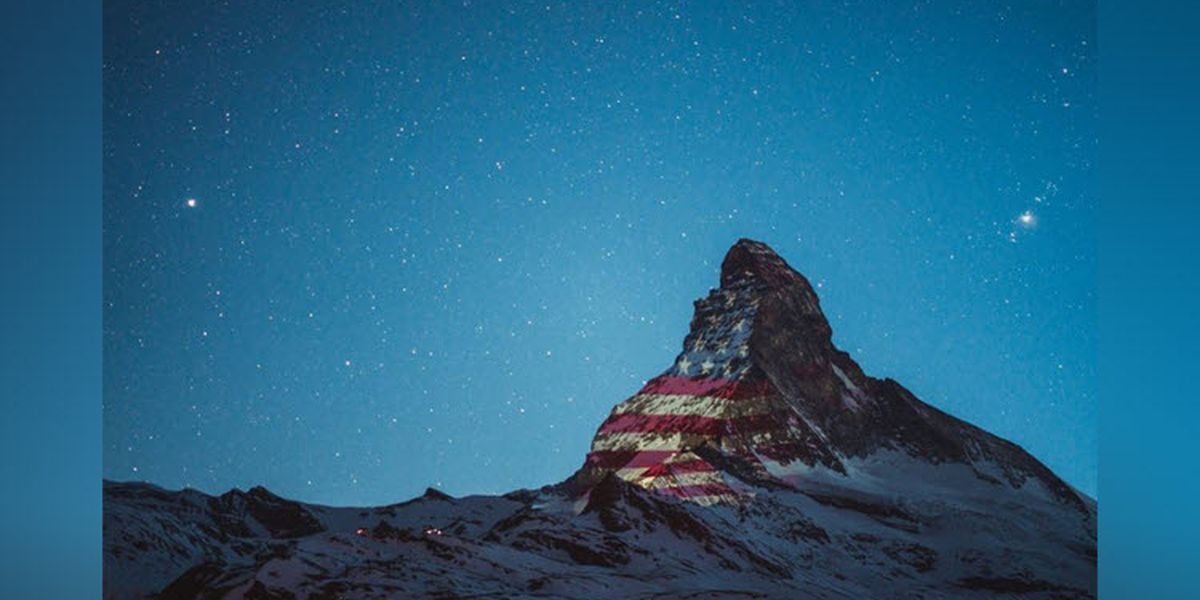 Switzerland lights up iconic Matterhorn with U.S. flag in show of support