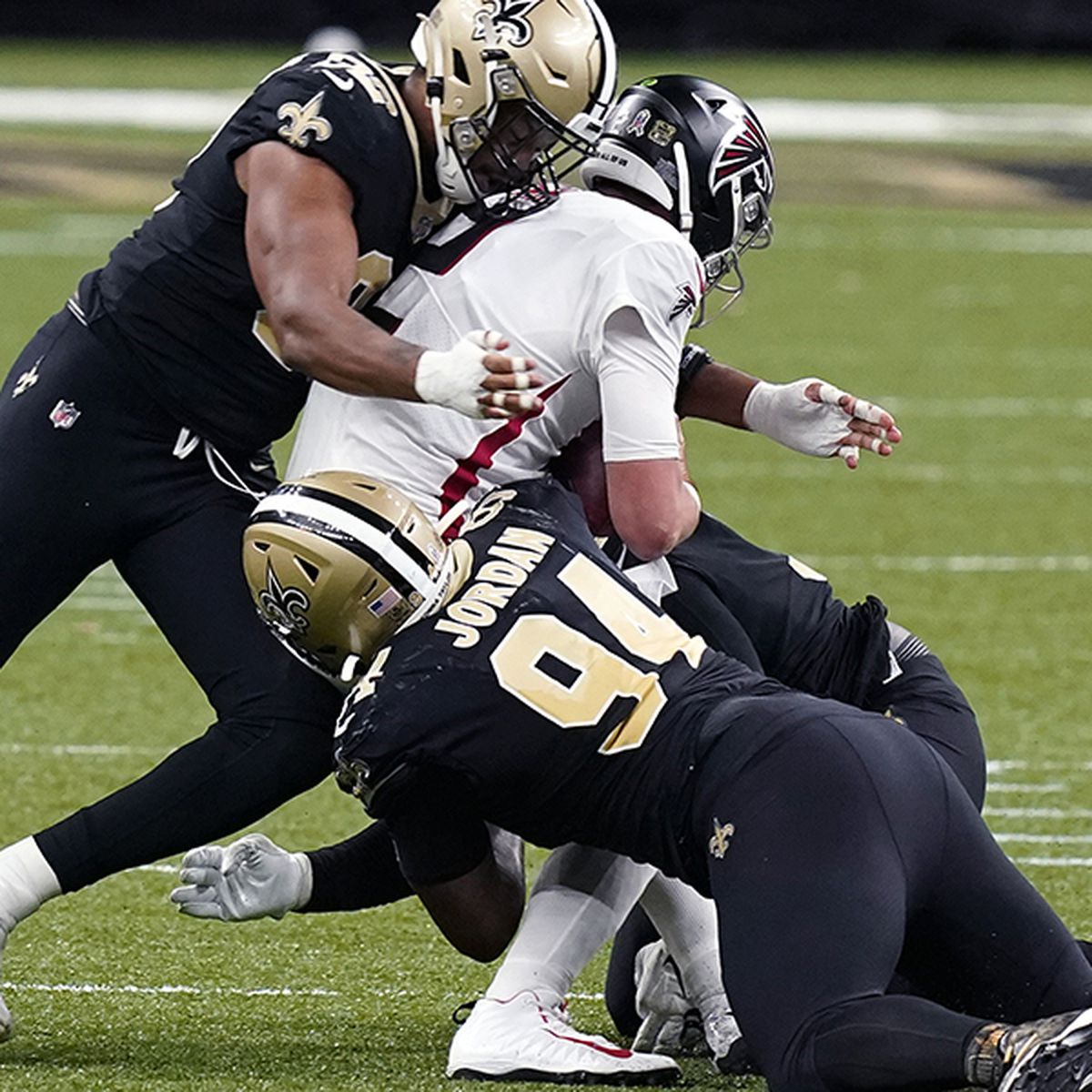 Saints defense stifles the Falcons to the tune of 8 sacks and 2 INT's