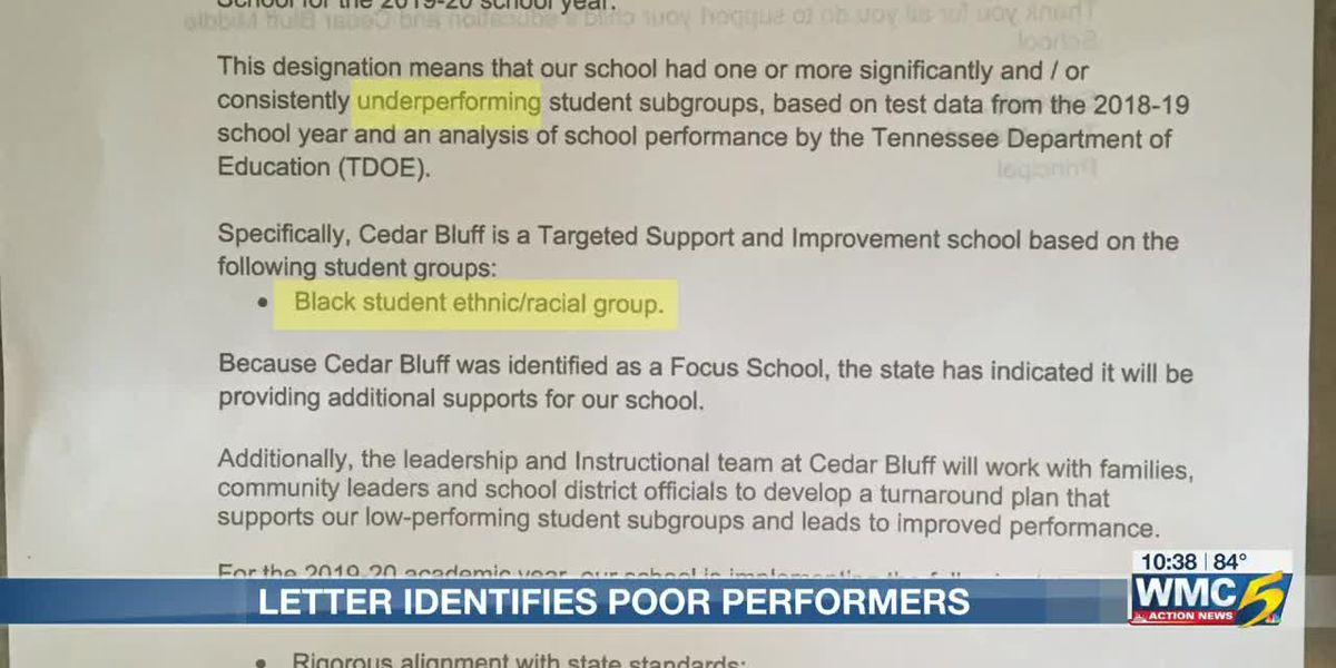 School letters cause controversy after singling out student groups by race