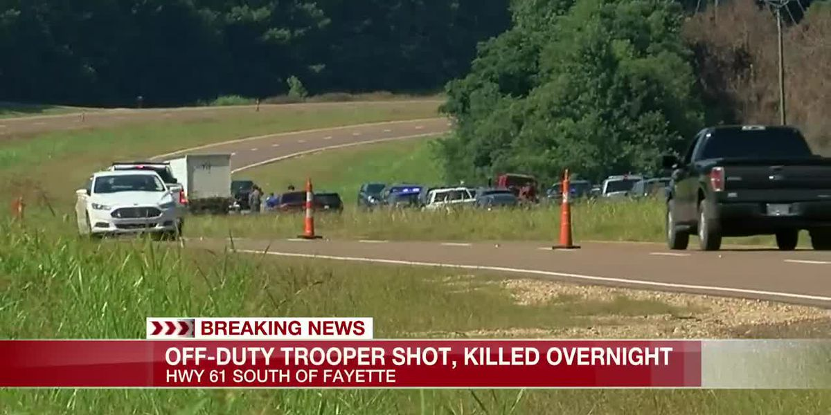 Trooper killed, manhunt underway