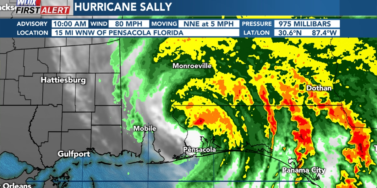 Sally makes landfall in coastal AL, sparing South MS the worst impacts