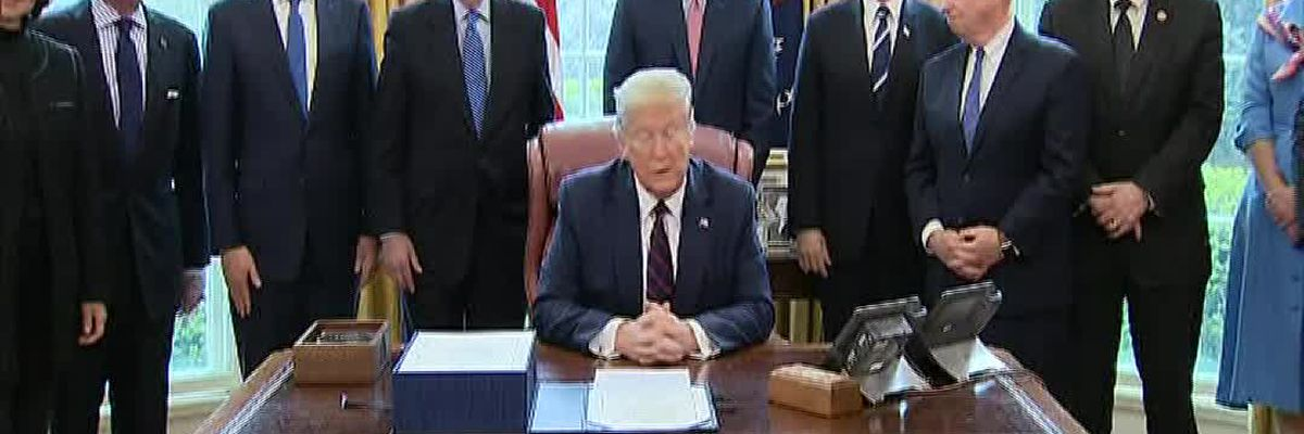 Trump on stimulus bill: 'Single biggest relief package ever signed'