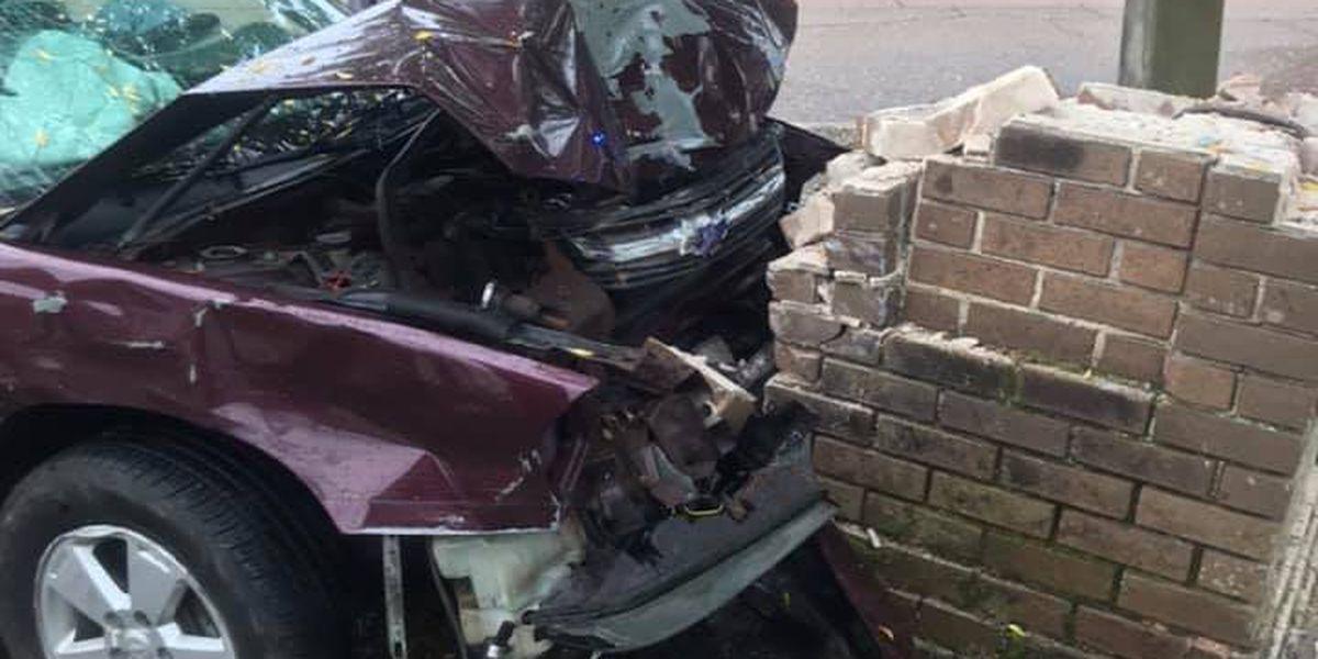 Brookhaven landmark damaged by car crash