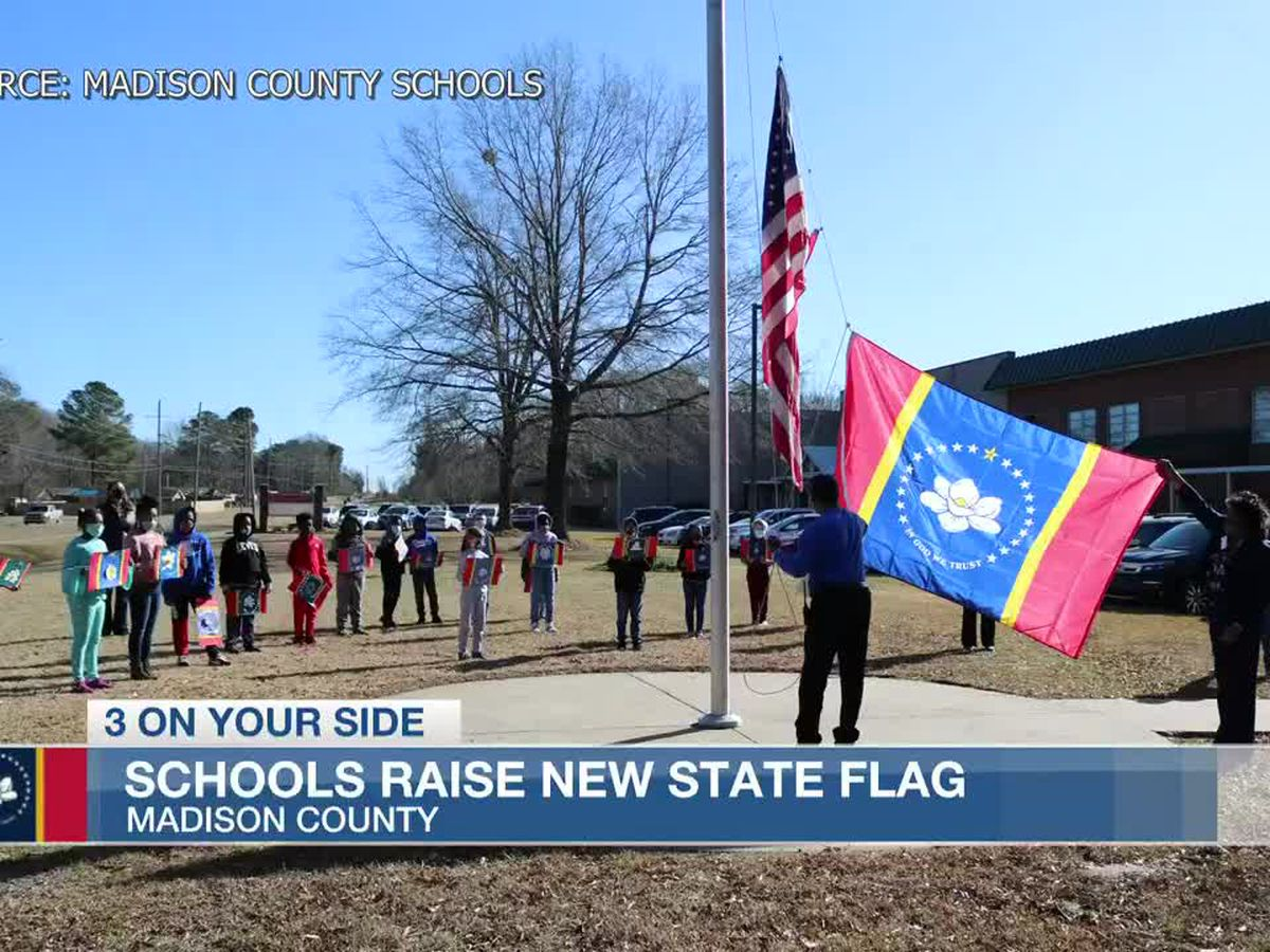 Ceremonies across the local school district usher in new state flag