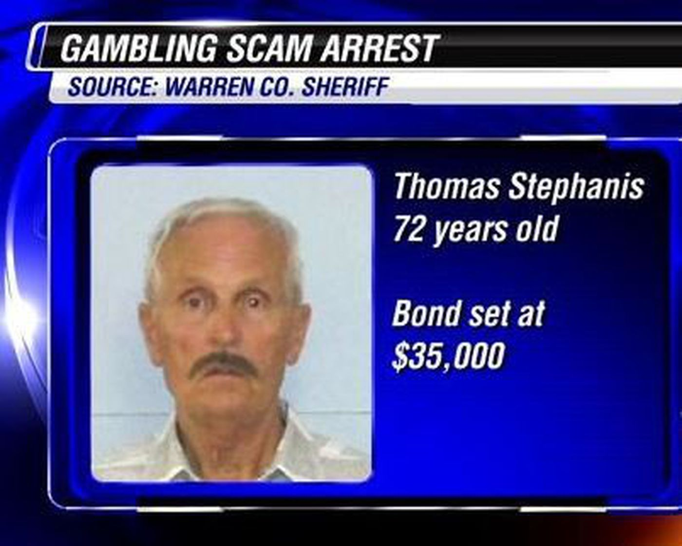 Elderly Texas man arrested for running alleged gambling scam