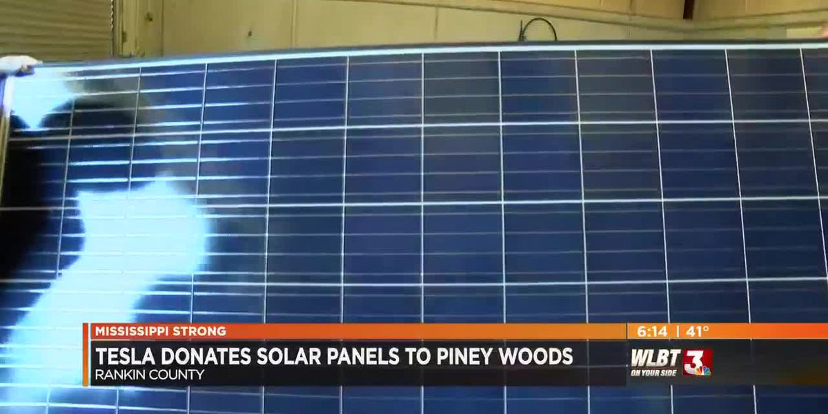 Solar panels for Piney Woods school