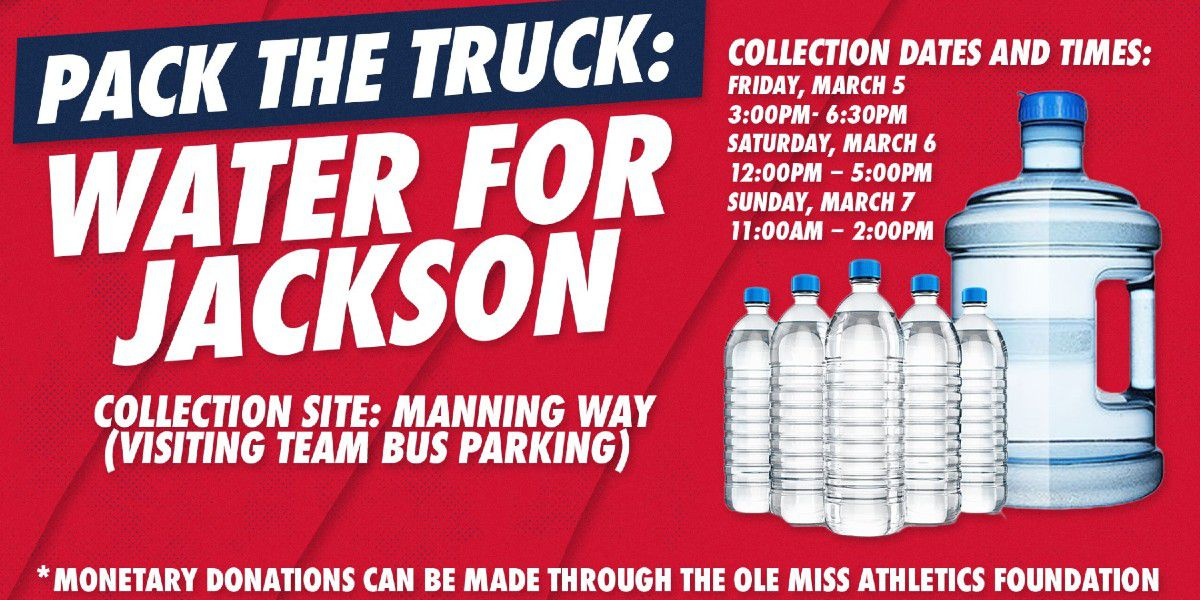 Ole Miss to collect water to aid Jackson