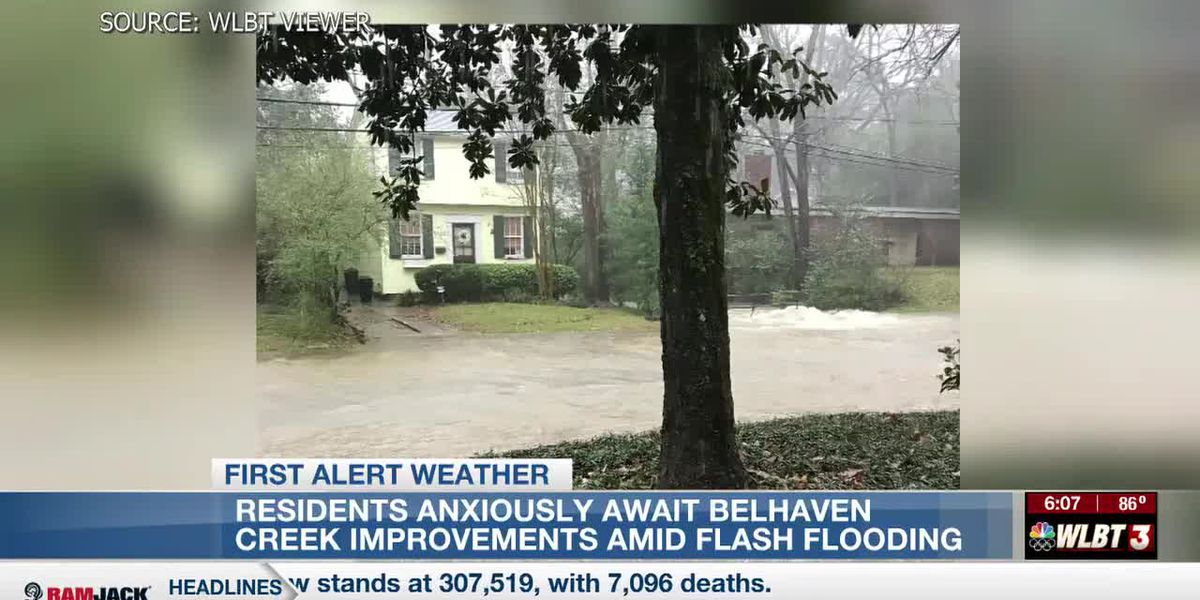 Residents anxiously await work on Belhaven Creek amid spring storms