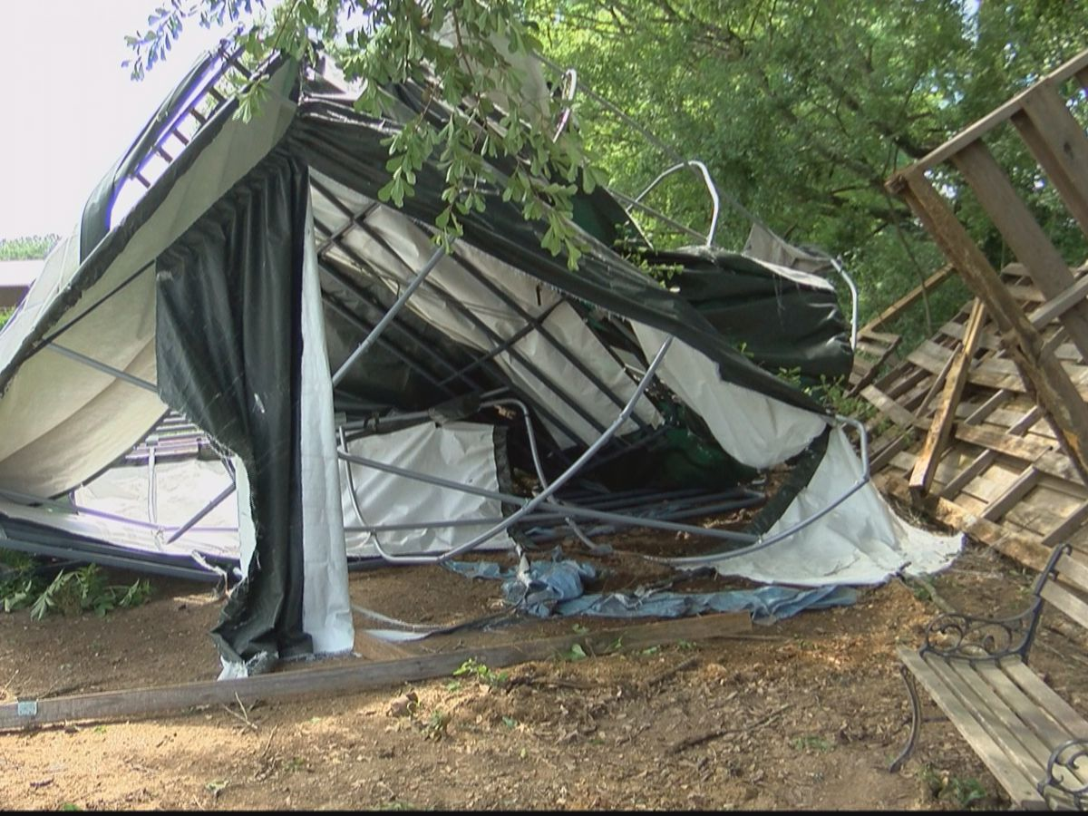 Tornado in Raymond wipes out horse and donkey shelter