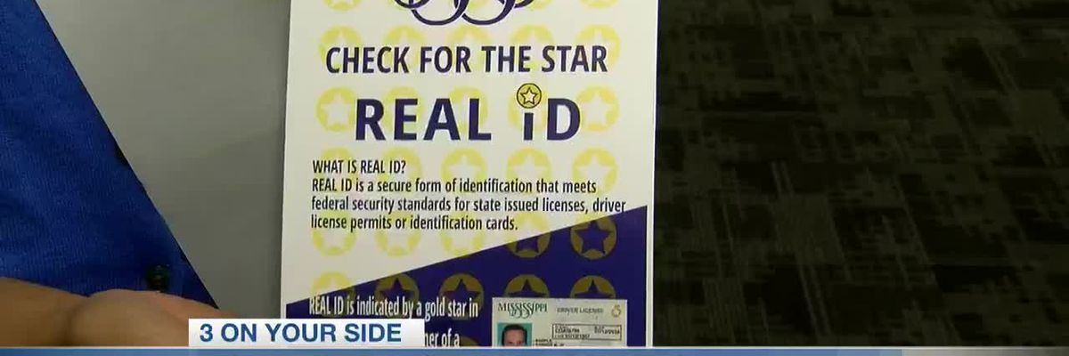 Mississippi Driver Services Bureau says check your license for REAL ID gold star