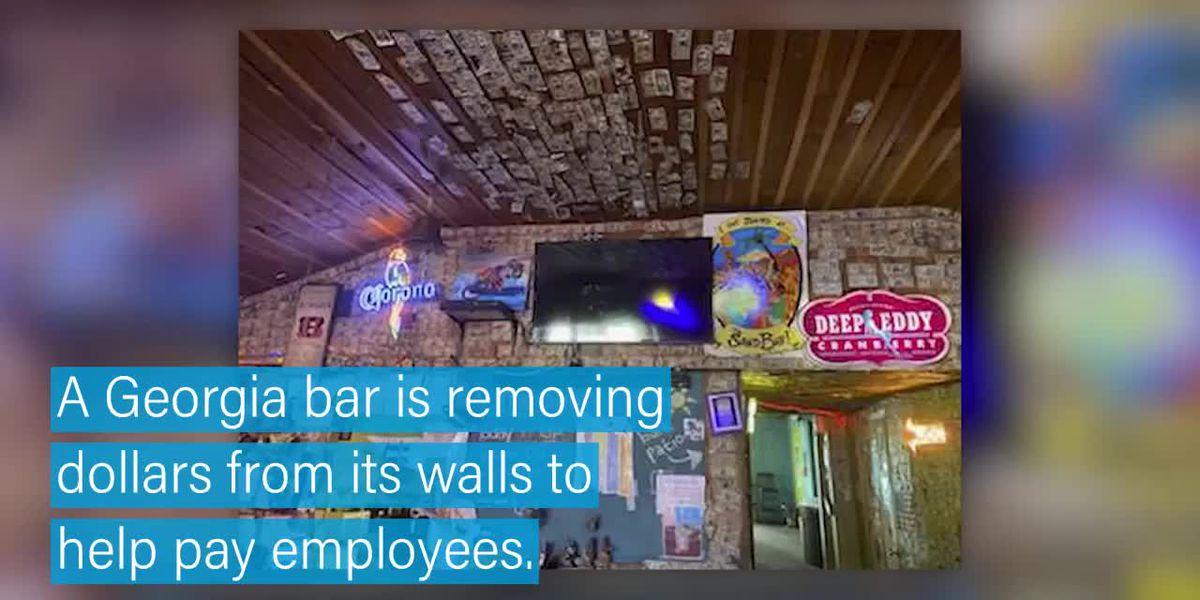 Georgia bar removes dollar bills to help struggling employees