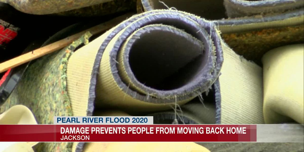 REsidents not able to move back home due to flooding