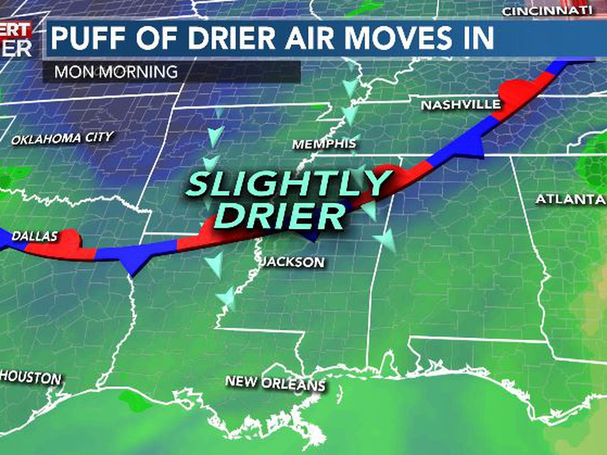 First Alert Forecast: storm risk before humidity drop into early August