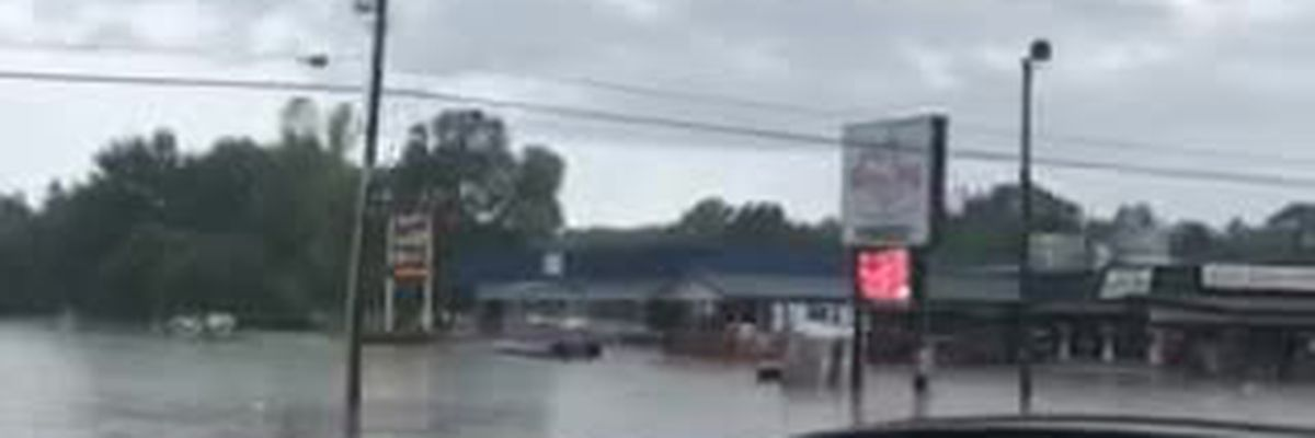 VIDEO: Flooding in Pearl caused by heavy rain