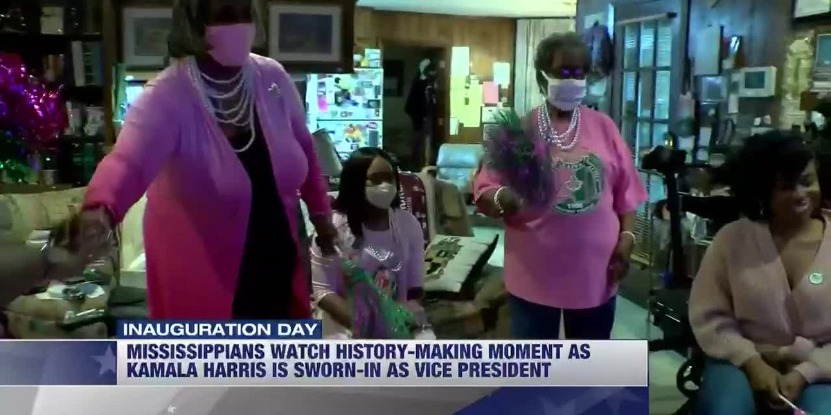 Miss. women of AKA sorority watch on as history is made as Kamala Harris sworn-in as Vice President