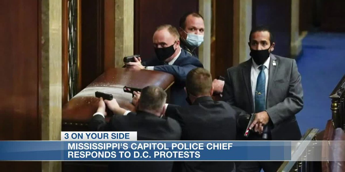 Mississippi's Capitol Police chief calls mayhem in D.C. 'appalling,' vows to step up patrols
