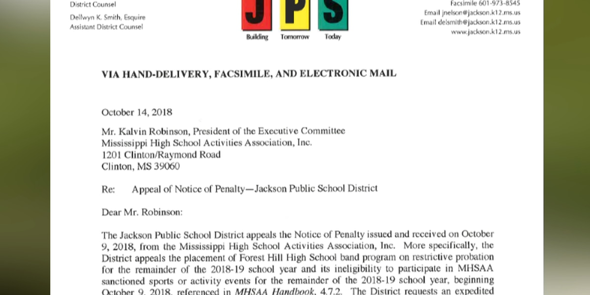 EXCLUSIVE: Newly-released document spells out JPS' defense of Forest Hill High School band after sanctions