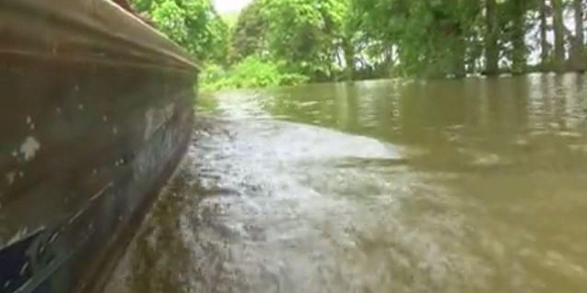 Backwater flooding seeps into Onward community
