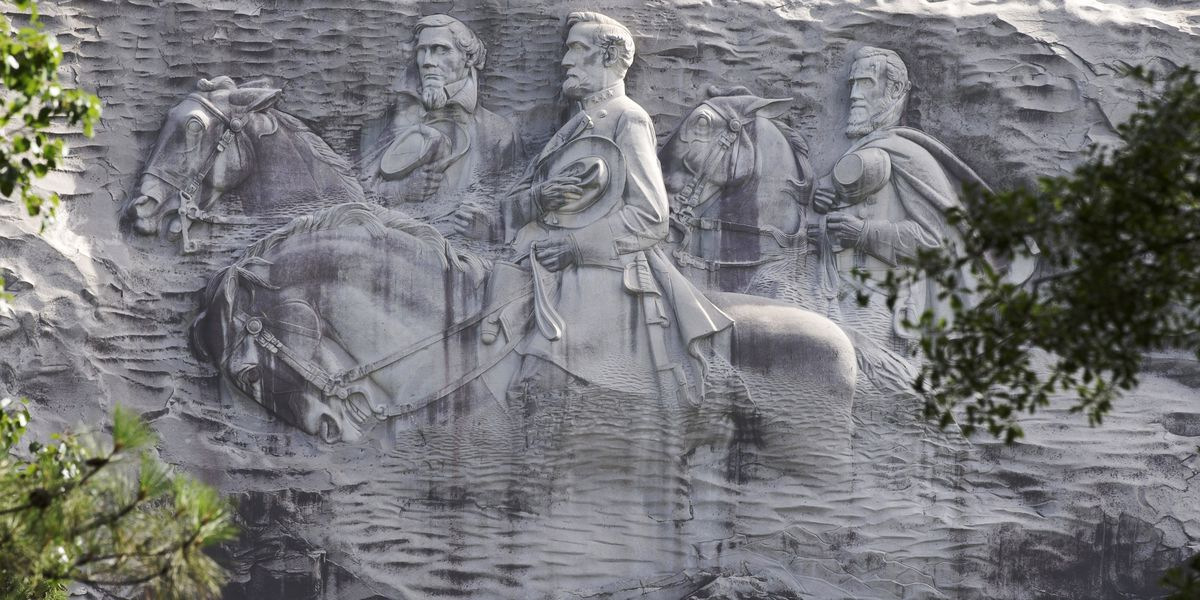 Georgia park with Confederate sculpture shuts gates to rally