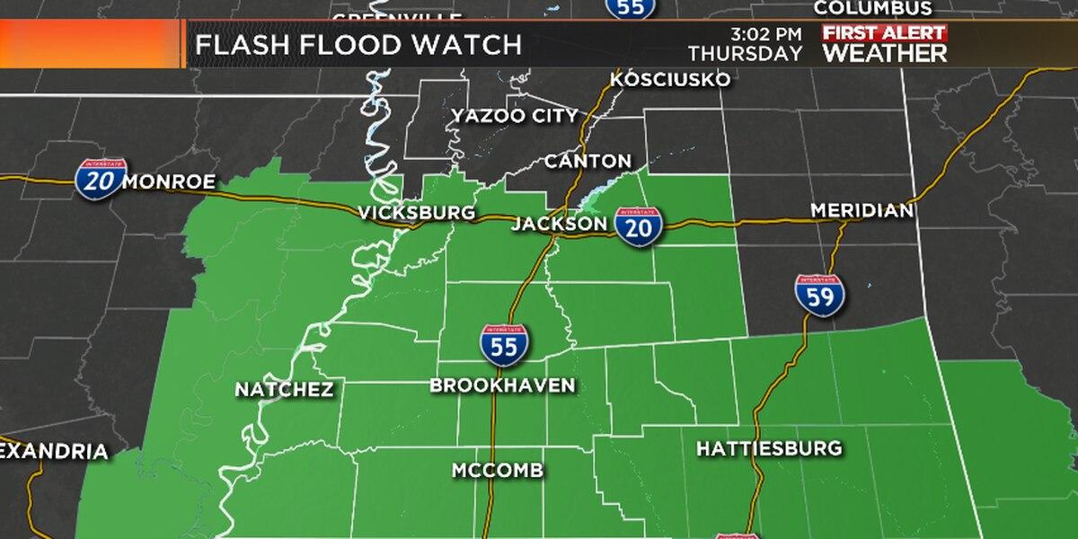 Thursday night weather update: Flash Flood Watch in effect through weekend