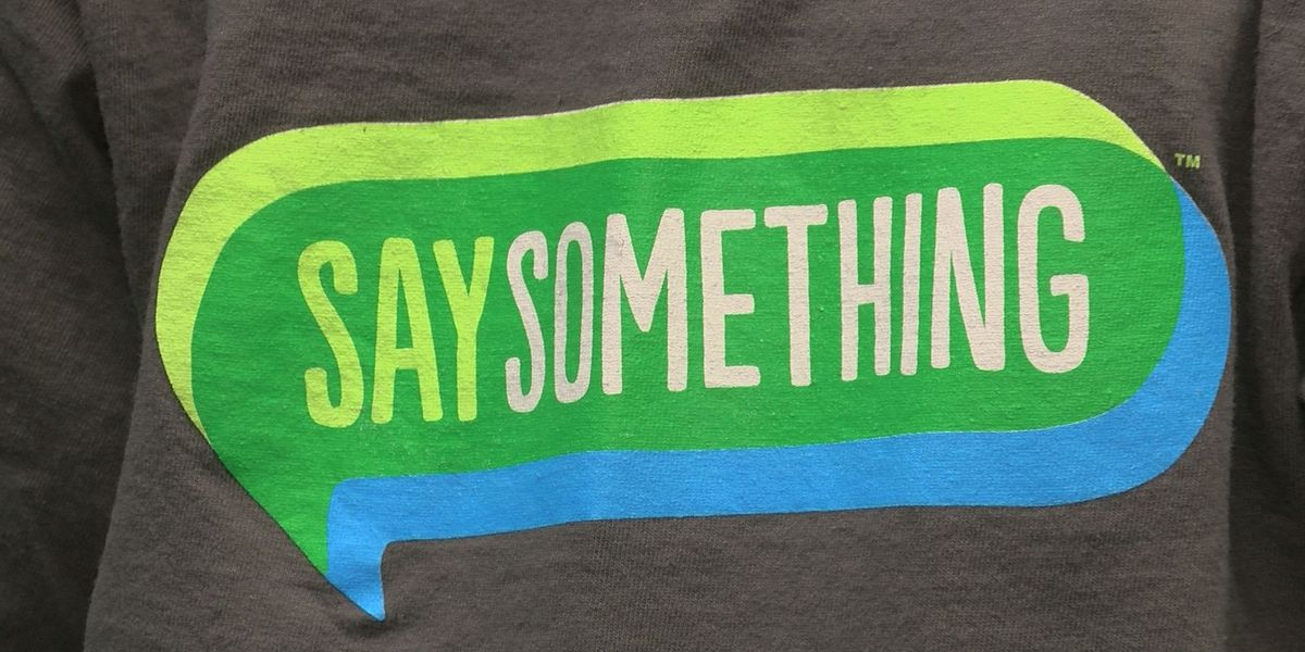 See Something - Say Something movement in schools