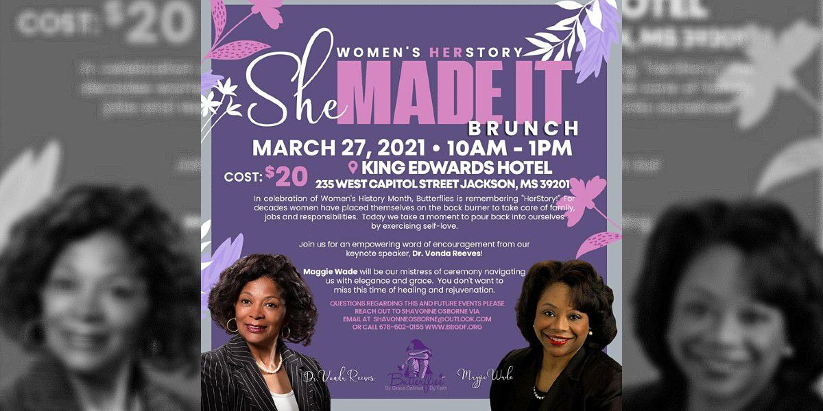 Maggie Wade to be mistress of ceremony at Women's History Brunch in Jackson