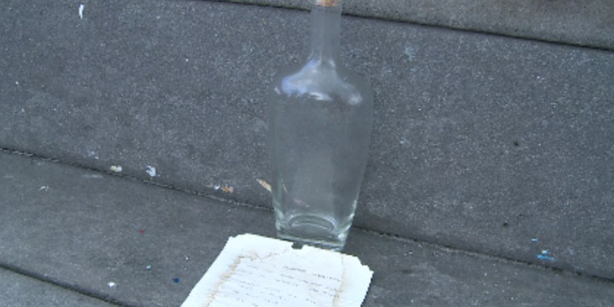 Man says he found 24-year-old message in a bottle on Florida beach
