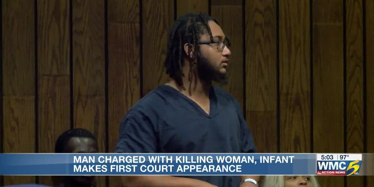 Man charged with killing woman, infant makes first court appearance