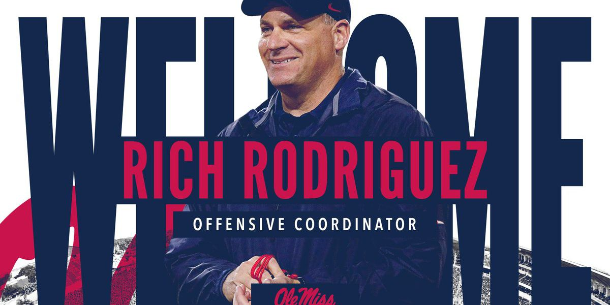 Mississippi hires Rich Rodriguez as offensive coordinator
