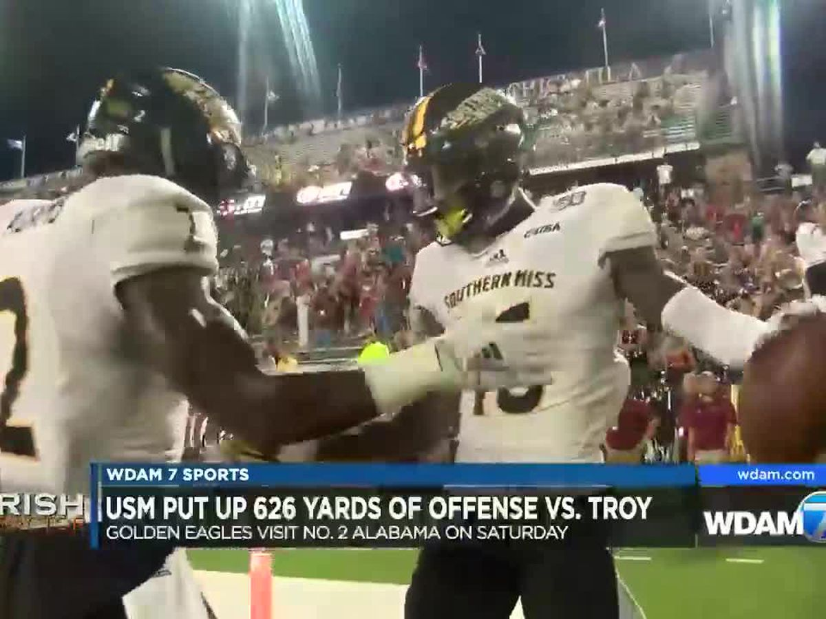 USM finds groove offensively, just in time for No. 2 Alabama