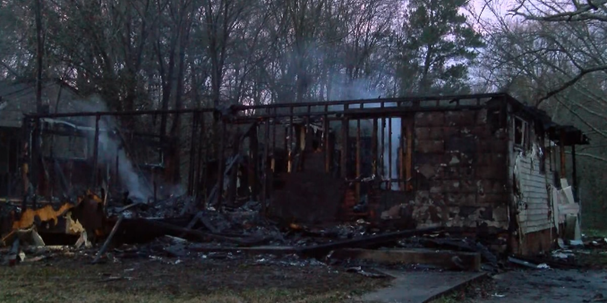 Vacant home destroyed by fire in Jackson