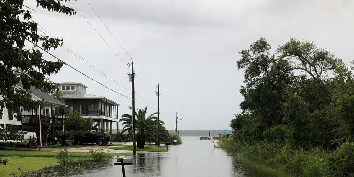 Areas of South Mississippi seeing impacts of Hurricane Barry