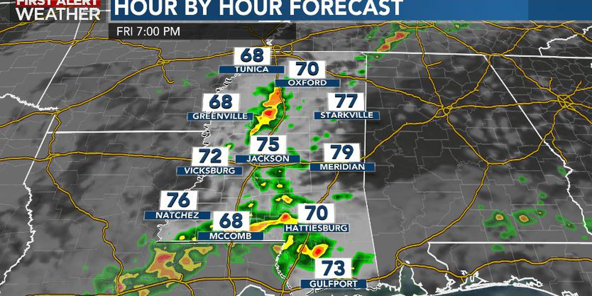 First Alert Forecast: Showers & storms likely Friday evening