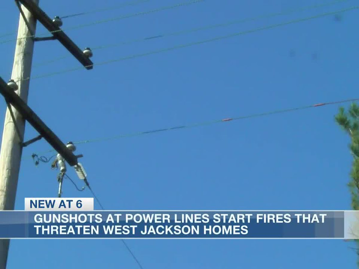 Gunshots at power lines start fires, endangering some Jackson residents