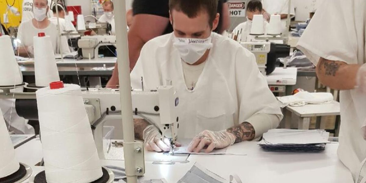 Inmates making thousands of masks a day to help decrease spread of COVID-19
