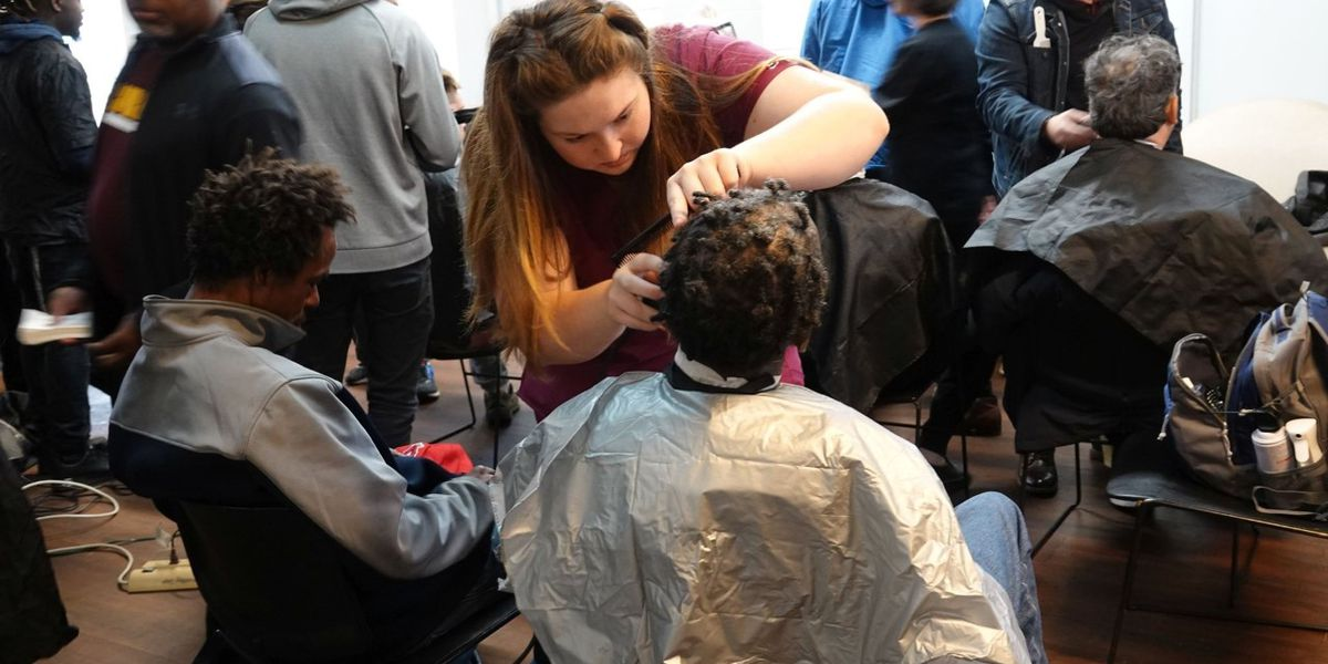 PRCC students give free haircuts to homeless
